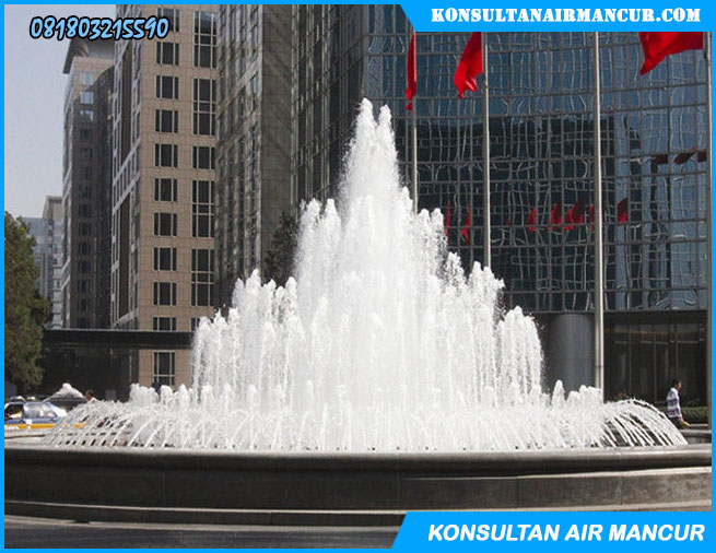 Contoh Pengaplikasian nozzle air mancur big air mixed trumpet