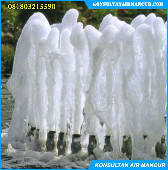 Hasil dan contoh pengaplikasian nozzle air mancur frothy