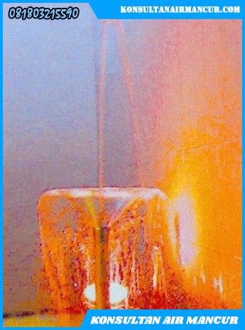 Pengaplikasian nozzle air mancur blossom trumpet