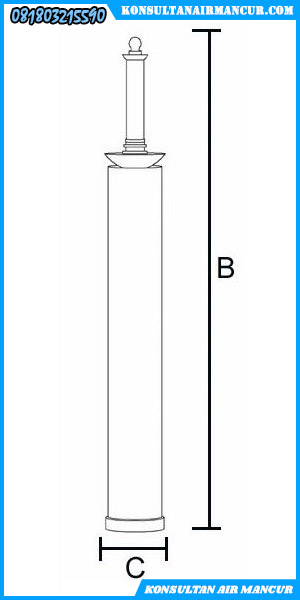 Ukuran Nozzle air mancur murah 2 layer trumpet